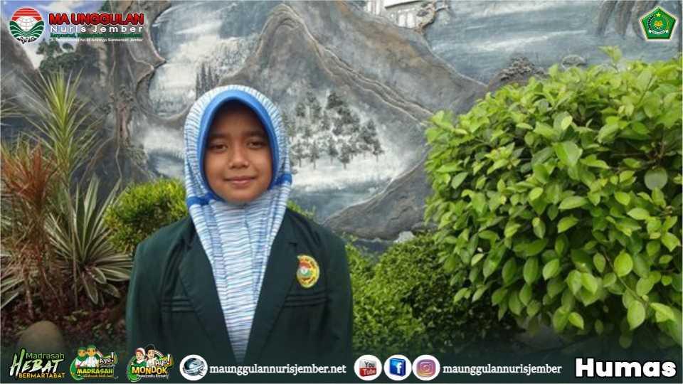 Ariny Dina Yasmin Sukses Rebut Juara Pada Ajang AKSIOMA Se-KKM MAN 1 Jember