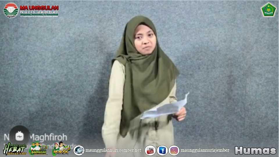 """Melalui Sajak """"Rindu Berdoa"""", Siswi MA Unggulan Nuris Juara Nasional di Ajang Creafest Vol. 2 2021"""
